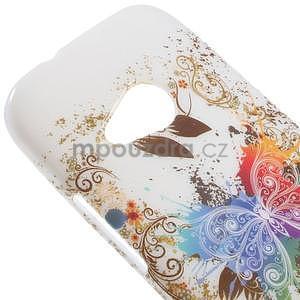 Gélový kryt pre HTC One mini 2 - barevní motýľci - 2