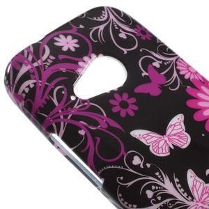 Gélový kryt na HTC One mini 2 - květiny a motýlci - 2