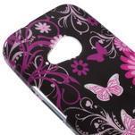 Gélový kryt na HTC One mini 2 - květiny a motýlci - 2/5