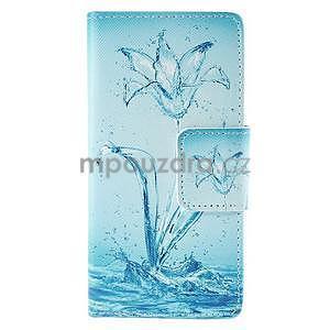 Peňaženkové puzdro Huawei Ascend P8 - vodný kvet - 2