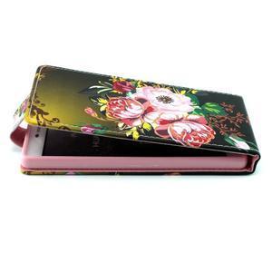 Flipové puzdro pre Huawei Ascend P8 - kvitnúce kvety - 2