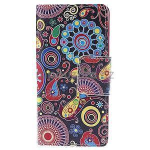 Peňaženkové puzdro Huawei Ascend P8 - farebné kruhy - 2