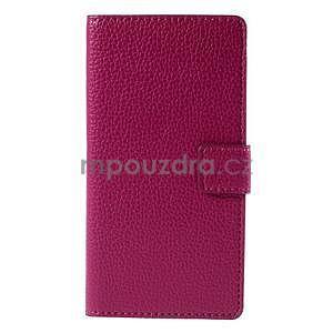 Peňaženkové kožené puzdro Huawei Ascend P8 - rose - 2