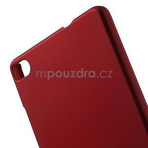 Plastový pogumovaný obal na Huawei Ascend P8 - červený - 2