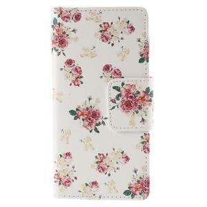 Peňaženkové puzdro Huawei Ascend P8 - roses - 2