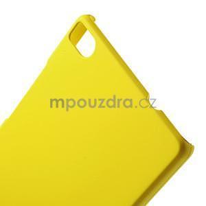 Plastový pogumovaný obal na Huawei Ascend P8 - žltý - 2