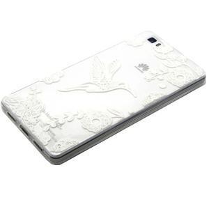 Transparentní gelový obal na Huawei Ascend P8 Lite - ptáček - 2