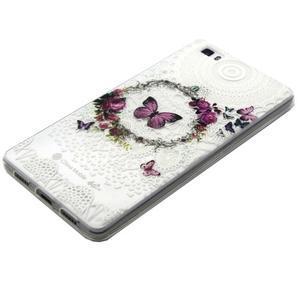 Transparentní gelový obal na Huawei Ascend P8 Lite - motýlek - 2