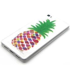 Transparentné gélový obal na Huawei Ascend P8 Lite - ananás - 2
