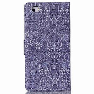 Puzdro na mobil Huawei P8 Lite - textury květin - 2