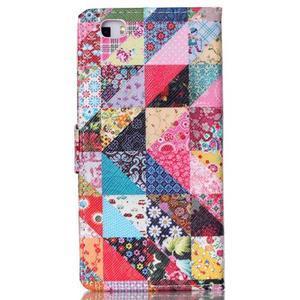 Puzdro na mobil Huawei P8 Lite - koláž trojúhelníčků - 2