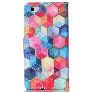 Puzdro pre mobil Huawei P8 Lite - farebné hexagony - 2