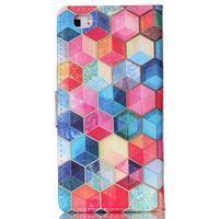 Puzdro pre mobil Huawei P8 Lite - farebné hexagony - 2/6
