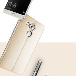 Vintage PU kožené puzdro na mobil Huawei Mate 8 - zlaté - 2