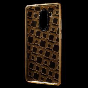 Square gelový obal na Huawei Mate 8 - zlatý - 2