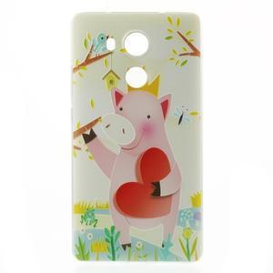 Softy gelový obal na mobil Huawei Mate 8 - zamilované prasátko - 2