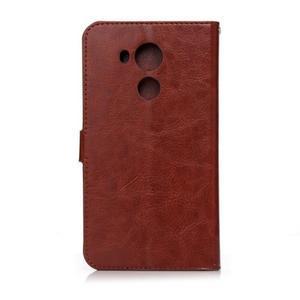 Peňaženkové puzdro na Huawei Mate 8 - hnedé - 2
