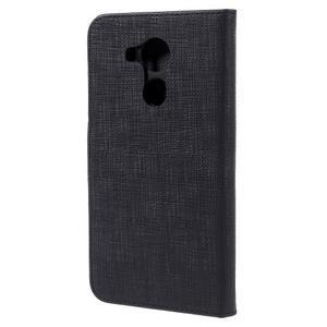 Clothy PU kožené puzdro na Huawei Mate 8 - čierne - 2