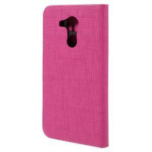Clothy PU kožené puzdro na Huawei Mate 8 - rose - 2