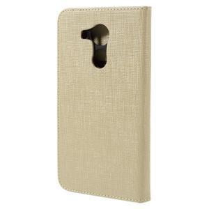Clothy PU kožené puzdro na Huawei Mate 8 - champagne - 2