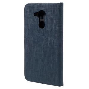 Clothy PU kožené pouzdro na Huawei Mate 8 - tmavěmodré - 2