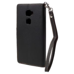 Knižkové PU kožené puzdro na mobil Huawei Mate S - čierne - 2
