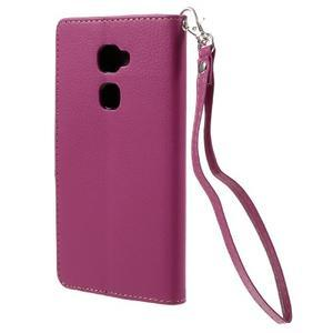 Knižkové PU kožené puzdro na mobil Huawei Mate S - rose - 2