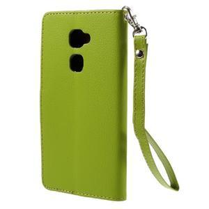 Knížkové PU kožené pouzdro na mobil Huawei Mate S - zelené - 2