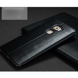 Vintage PU kožené puzdro s kovovou výstuhou na Huawei Mate S - čierne - 2