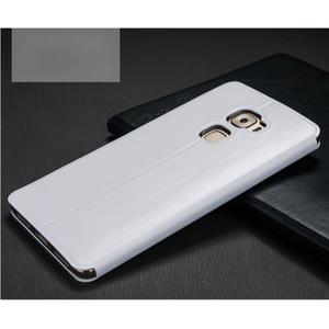Vintage PU kožené pouzdro s kovovou výstuhou na Huawei Mate S - bílé - 2