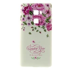 Softy gelový obal na mobil Huawei Mate S - růže - 2