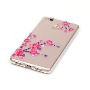 Průhledný gelový obal na mobil Huawei P9 Lite - kvetoucí růže - 2