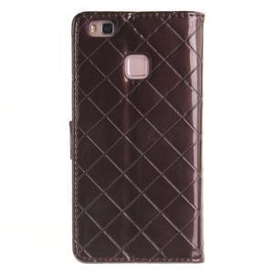 Luxury PU kožené peňaženkové puzdro na Huawei P9 Lite - coffee - 2