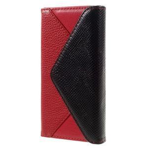 Penženkové pouzdro na mobil Huawei P9 Lite - černé/červené - 2
