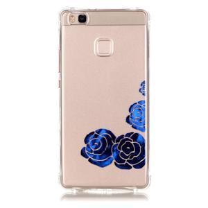 Lacqe geový obal na Huawei P9 Lite - modré růže - 2