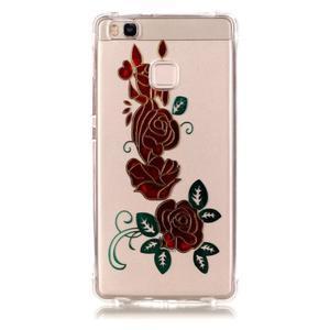 Lacqe geový obal na Huawei P9 Lite - růže - 2