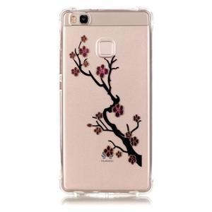 Lacqe geový obal na Huawei P9 Lite - kvetoucí větev - 2