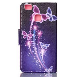 Patter PU kožené pouzdro na mobil Huawei P9 Lite - kouzlení motýlci - 2