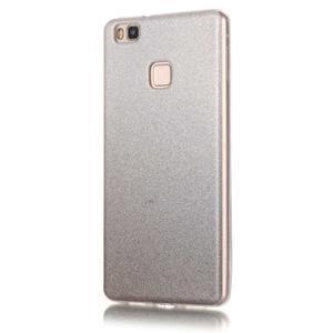 Gradient třpitivý gelový obal na Huawei P9 Lite - šedý - 2