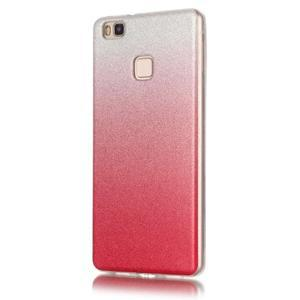 Gradient třpitivý gelový obal na Huawei P9 Lite - rose - 2