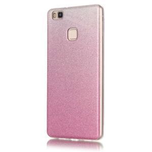 Gradient třpitivý gelový obal na Huawei P9 Lite - růžový - 2