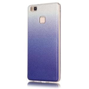 Gradient třpitivý gelový obal na Huawei P9 Lite - tmavěmodrý - 2
