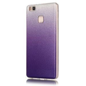 Gradient třpitivý gelový obal na Huawei P9 Lite - fialový - 2