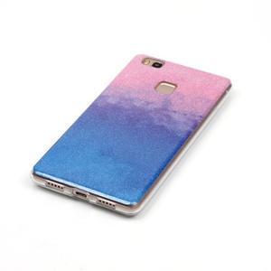 Gradient třpitivý gelový obal na Huawei P9 Lite - růžový/modrý - 2