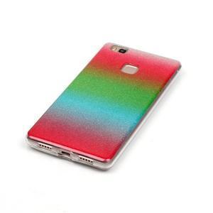 Gradient třpitivý gelový obal na Huawei P9 Lite - mix barev I - 2
