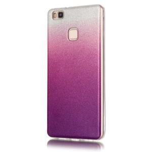 Gradient třpitivý gelový obal na Huawei P9 Lite - stříbrný/fialový - 2