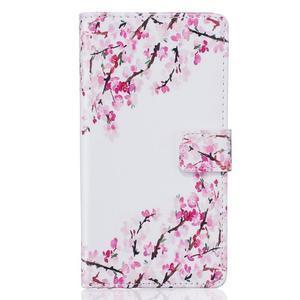 Knížkové pouzdro s motivem na Huawei P9 Lite - kvetoucí větvičky - 2