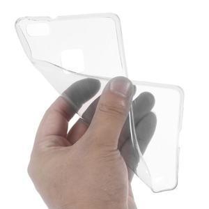 Super slim 0.5 mm gelový obal na Huawei P9 Lite - šedý - 2