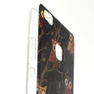 Skiny gelový obal na mobil Huawei P9 Lite - sovičky - 2