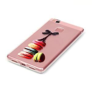 Transparentní obal na telefon Huawei P9 Lite - Eiffelka a makrónky - 2